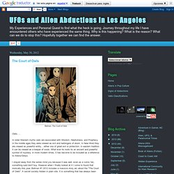 UFOs and Alien Abductions in Los Angeles: The Court of Owls