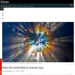 Alien life could feed on cosmic rays
