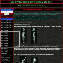 Race Alien Extraterrestre, Les Petit Gris