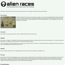Alien Races | Known Alien Races of the Galaxy