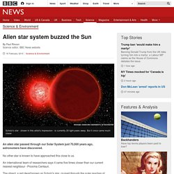 Alien star system buzzed the Sun