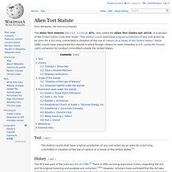 Alien Tort Statute