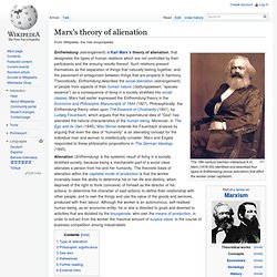 what are karl marx four aspects of alienation of labor These four twisted truths of marxism point to the need to look at ideology and economics through the lens of faith and scripture  karl marx, announced his object .