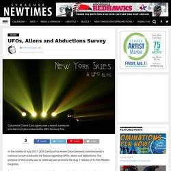 UFOs, Aliens and Abductions Survey - Syracuse New Times