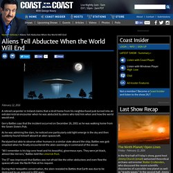 Aliens Tell Abductee When the World Will End