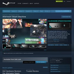 Alienware Steam Machine on Steam