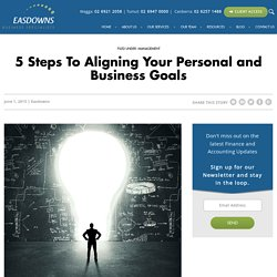 5 Steps To Aligning Your Personal and Business Goals -