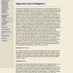 Alignment and Intelligence