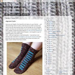 Knitting and so on: Alignment Socks