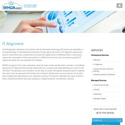 IT Alignment - Cloud Solutions Provider - Whoa.com