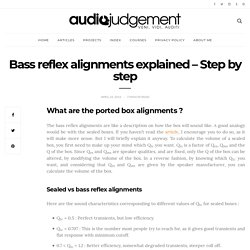 Bass reflex alignments explained - Step by step