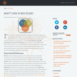 AlignTech Solutions for Digital Marketing and Communications » What's New in Web Design?