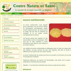 Aliment naturel - Levure nutritionnelle