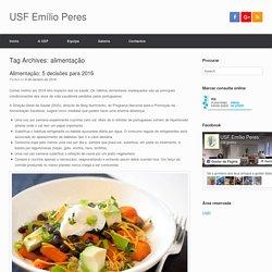 alimentação – USF Emílio Peres