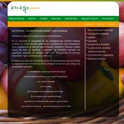 NUTRICIÓN - ALIMENTACIÓN SANA y EQUILIBRADA