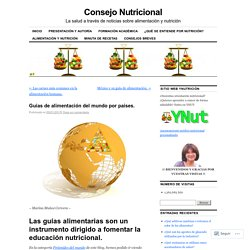 Guías de alimentación del mundo por países.