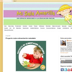 Proyecto sobre alimentación saludable