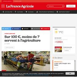 Chaîne alimentaire : Sur 100€, moins de 7 servent à l'agriculture