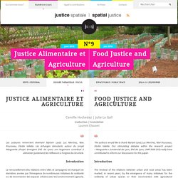 Justice alimentaire et agriculture