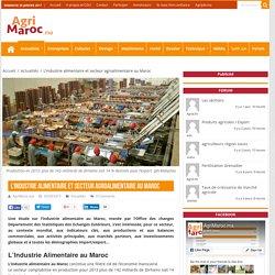 L'industrie alimentaire et secteur agroalimentaire au Maroc – AgriMaroc.ma