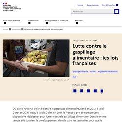 Lutte contre le gaspillage alimentaire : les lois françaises