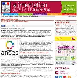 ALIMENTATION_GOUV_FR 09/04/13 Bisphénol A : à éviter pendant la grossesse