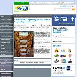 HERAULT_FR 21/03/12 Au collège de Capestang on lutte contre le gaspillage alimentaire