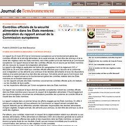 JDLE 25/04/12 Contrôles officiels de la sécurité alimentaire dans les États membres : publication du rapport annuel de la Commis