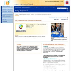 ADEME - Partage d'expérience : Organiser un concours sur le gaspillage alimentaire dans les restaurants scolaires