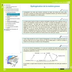 Processus de l'hydrogénation