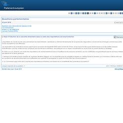 PARLEMENT EUROPEEN - Réponse à question: E-4491/2010 Protection de la sécurité alimentaire dans le cadre des importations de boe