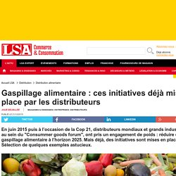 Gaspillage alimentaire : ces initiatives...