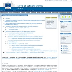 DG SANCO 21/11/06 Importation d'animaux et de produits d'origine animale en provenance de pays tiers: fourniture de garanties éq