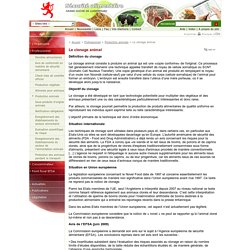 SECURITE ALIMENTAIRE GRASND-DUCHE DE LUXEMBOURG - AOUT 2010 - Le clonage animal
