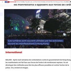 Hong Kong : stylos-lasers, film alimentaire... comment les manifestants s'opposent aux forces de l'ordre