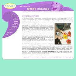 Sécurité alimentaire en crèche et maternelle - Formation SECALI