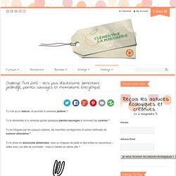 Challenge Avril 2015 – Vers plus d'autonomie alimentaire : jardinage, plantes sauvages et minimalisme énergétique