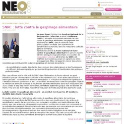 SNRC : lutte contre le gaspillage alimentaire