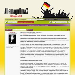 ALLEMAGNE AU MAX 15/03/12 Le gaspillage alimentaire en Allemagne