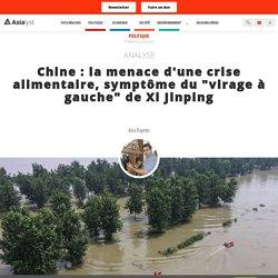 """la menace d'une crise alimentaire, symptôme du """"virage à gauche"""" de Xi Jinping"""
