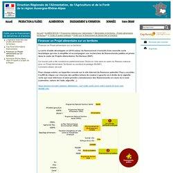 DRAAF AUVERGNE RHONE ALPES 13/11/18 Carte mentale : Financer un Projet alimentaire sur un territoire