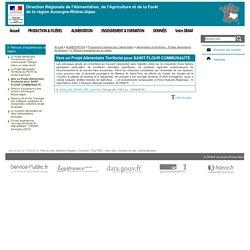 DRAAF AUVERGNE RHONE ALPES 17/04/19 Le Projet Alimentaire Territorial de SAINT FLOUR CONNAUMAUTE