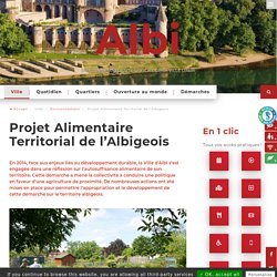 MAIRIE ALBI - AOUT 2019 - Projet Alimentaire Territorial de l'Albigeois.