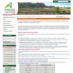 etiquetage des denrées alimentaires - Chambre d'Agriculture de l'Allier