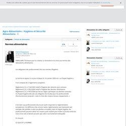 Normes alimentaires - Agro-Alimentaire : Hygiène et Sécurité Alimentaire sur Viadeo.com