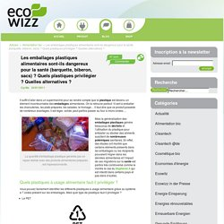 Les emballages plastiques alimentaires sont-ils dangereux pour la santé (barquette, biberon, sacs) ? Quels plastiques privilégier ? Quelles alternatives ?
