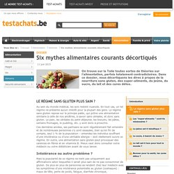 TESTACHATS 11/06/15 Six mythes alimentaires courants décortiqués