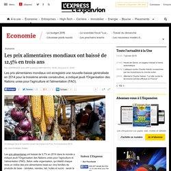 Les prix alimentaires mondiaux ont baissé de 12,5% en trois ans - L'Express L'Expansion