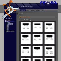 Profilés - Bande Plate - Catalogue Prosil - Profilés silicone - Profilés alimentaires - Profilés industriels - Profilés bâtiment