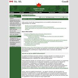 SANTE CANADA - Additifs alimentaires.